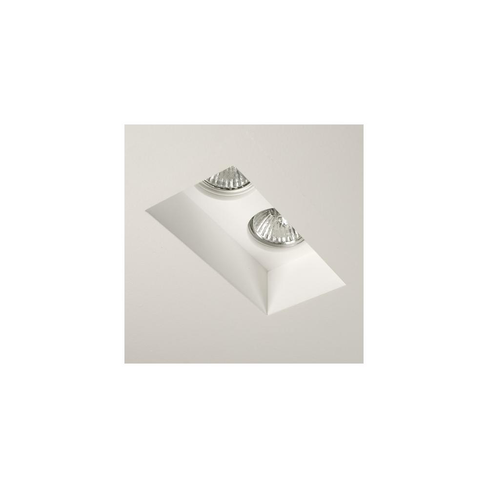 5654 Blanco Twin 2 Light White Recessed Downlight