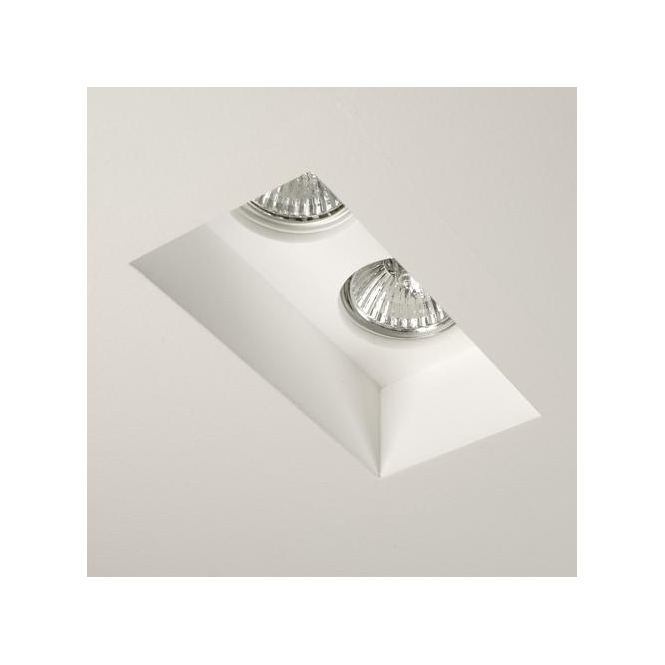 Astro Lighting 5654 Blanco Twin 2 Light White Recessed Downlight