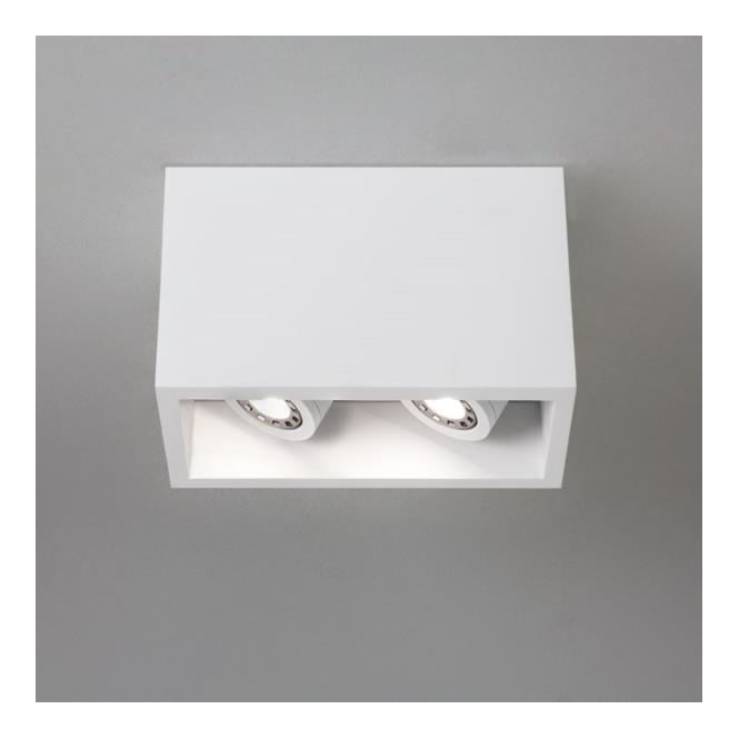 Astro Lighting 5684 Osca 140 Twin Adjustable Plaster Finish Flush Downlight