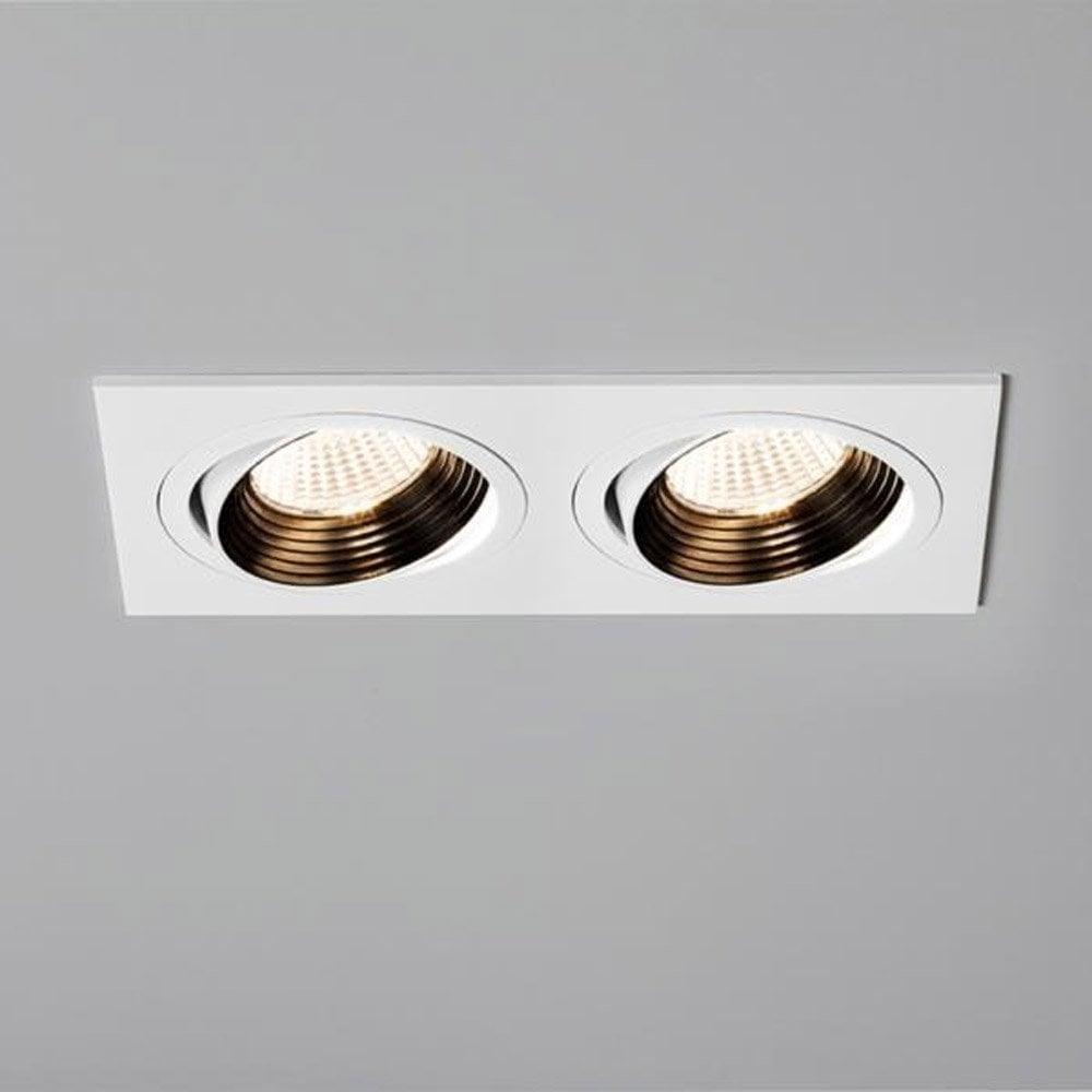 5688 Aprilia Double Adjustable LED White Finish Downlight
