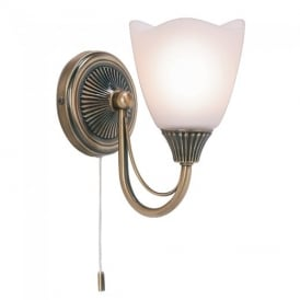 601-1AN 1 Light Wall Light Plated In Antique Brass