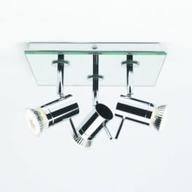 6077 Sakura Square Triple Ceiling Spot Light In Chrome