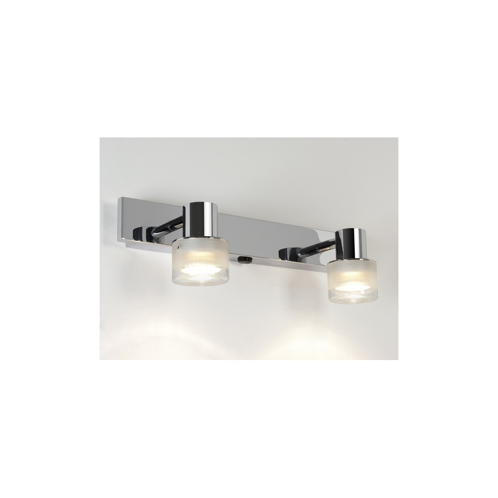 Symphony Twin Wall Lights : Astro Lighting 6138 Tokai Twin Spot Wall Light In Polished Chrome - Lighting from The Home ...