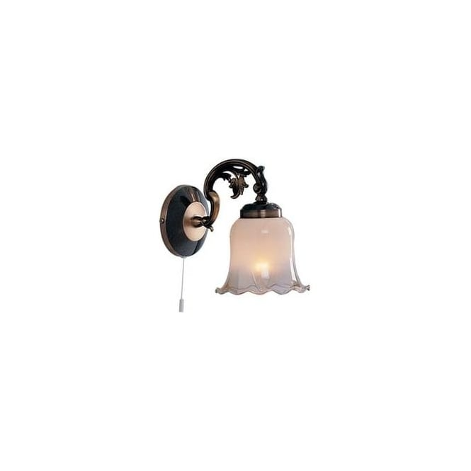 6401 1 Madrid 1 Light Antique Brass Switched Wall Bracket
