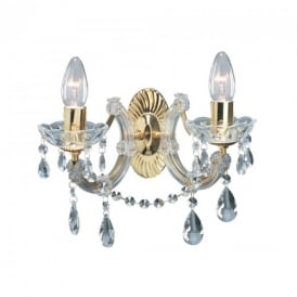 699-2 Marie Therese 2 Light Wall Light In Gold