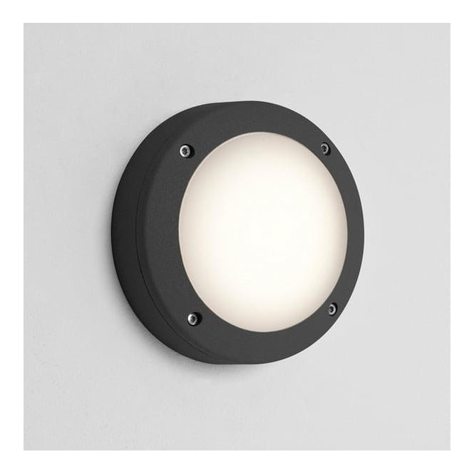 7118 Arta 150 Round Exterior Wall Light in Black - Lighting from The Home Lighting Centre UK