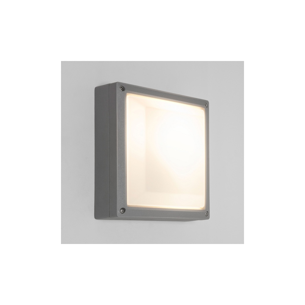 7119 Arta 210 Square Exterior Wall Light in Painted Silver - Lighting from The Home Lighting ...