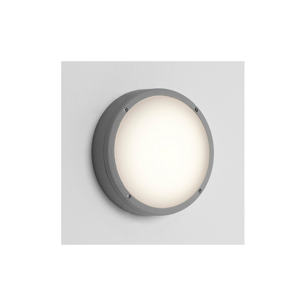 Round Exterior Wall Lights : 7121 Arta 275 Round Exterior Wall Light in Painted Silver - Lighting from The Home Lighting ...