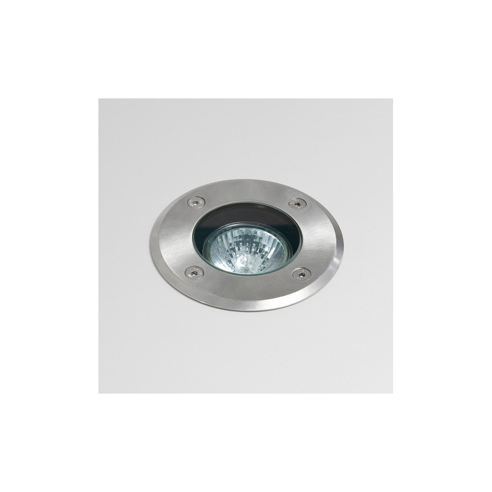 7131 Gramos Round Exterior Ground Light Stainless Steel