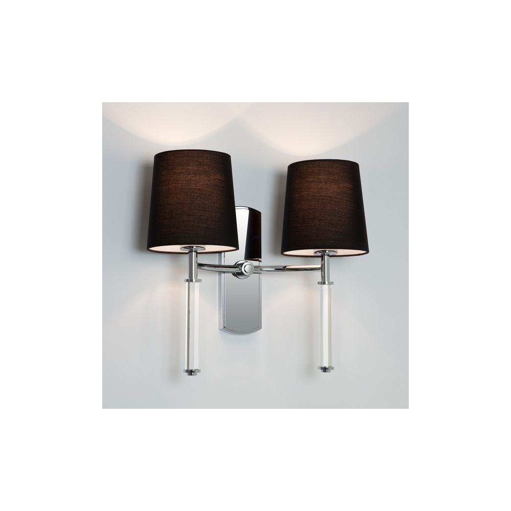Symphony Twin Wall Lights : Astro Lighting 7135 Delphi Twin Light Wall Light in Polished Chrome - Lighting from The Home ...