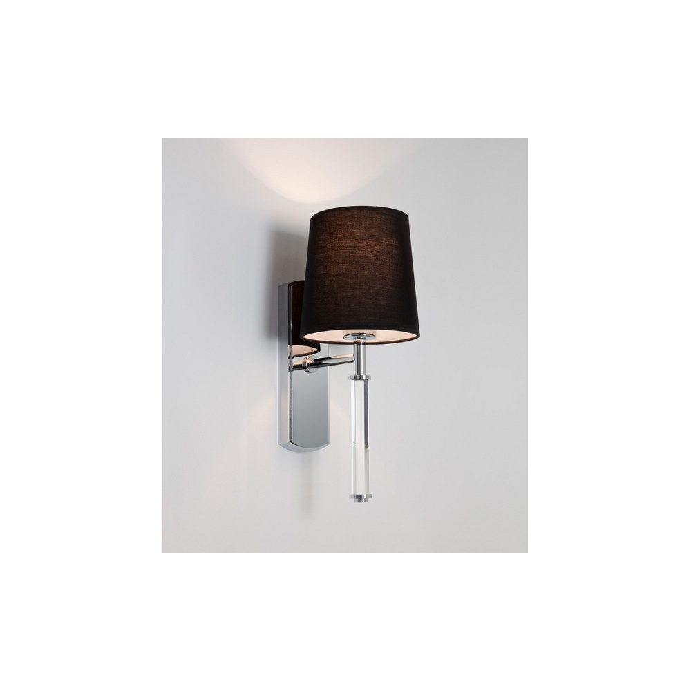 Wall Lights In Chrome : Astro Lighting 7136 Delphi 1 Light Wall Light in Chrome with Shade - Lighting from The Home ...