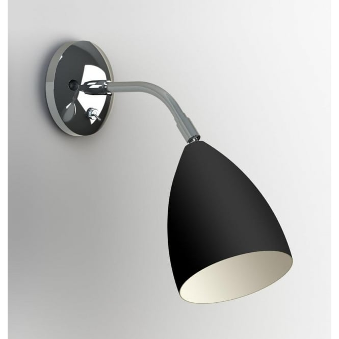 Astro Lighting 7157 Joel Adjustable 1 Light Wall Light in Black and Chrome