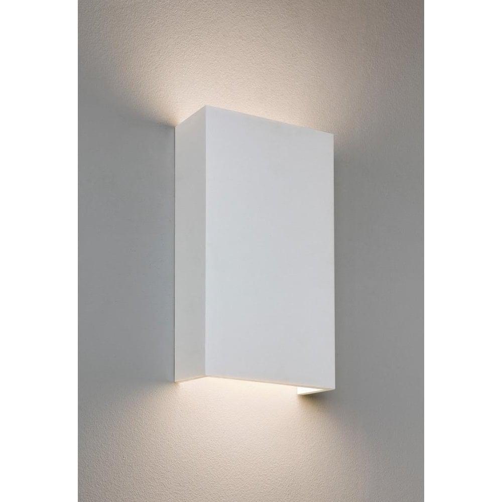 Wall Lights Plaster Finish : Astro Lighting 7173 Rio 190 Minimalist LED Wall Bracket in Plaster Finish - Lighting from The ...