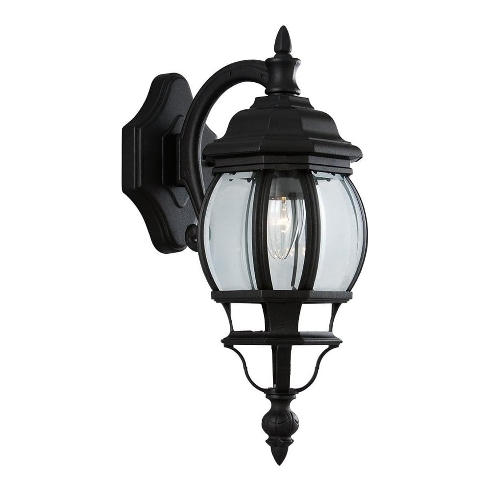 Searchlight 7175 1 bel aire black uplight outdoor wall for Outdoor lighting uplight