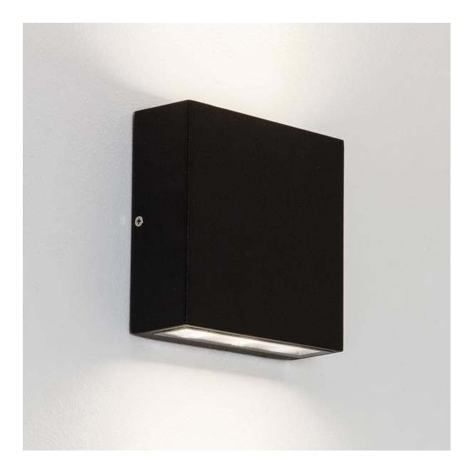 Astro Lighting 7202 Elis Twin Exterior Black Finish Wall Light