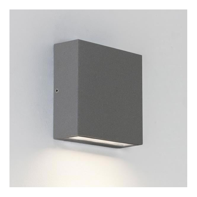 Astro Lighting 7203 Elis Single Exterior Painted Silver Finish Wall Light