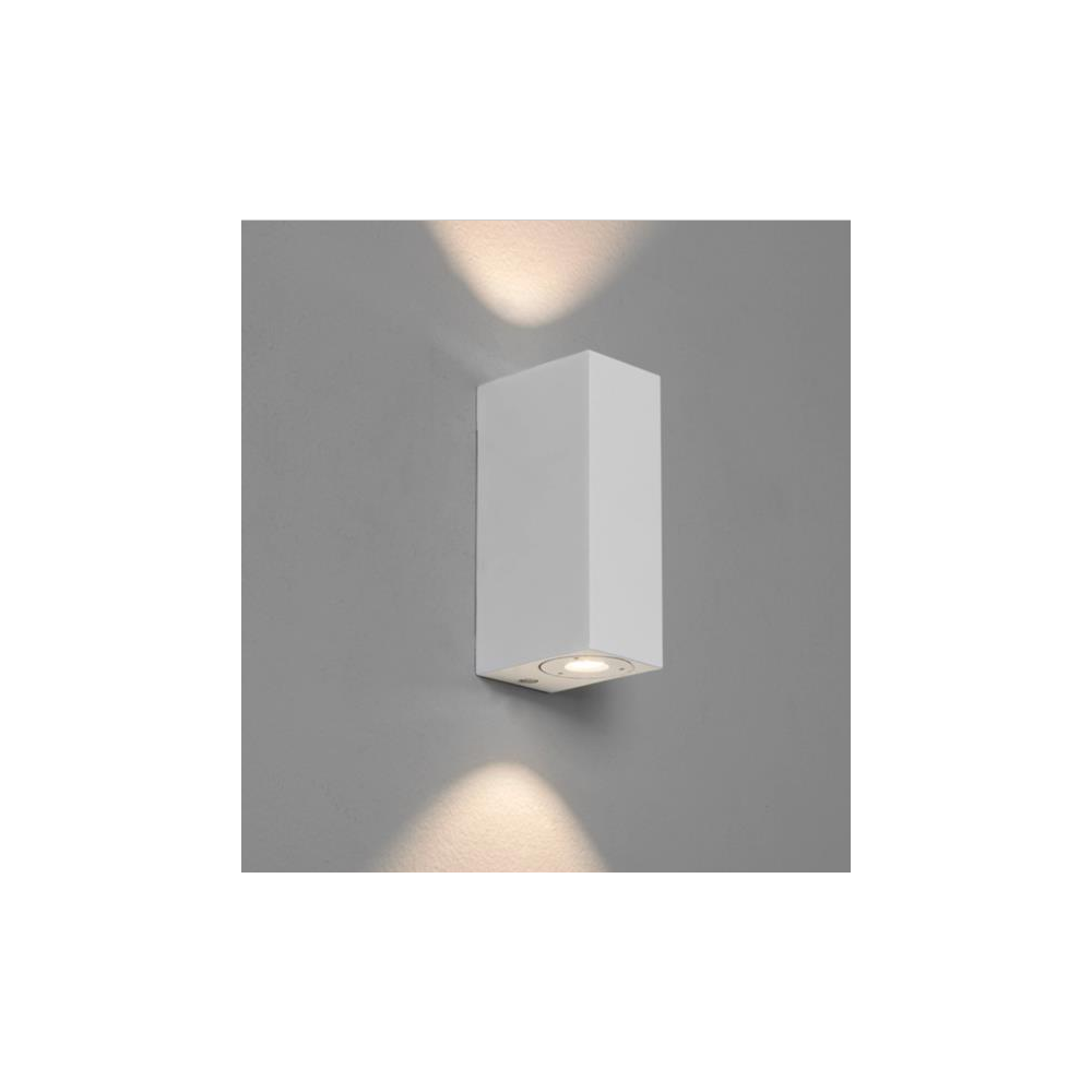 Astro Lighting 7275 Bloc LED Double Bathroom Wall Light In White Finish