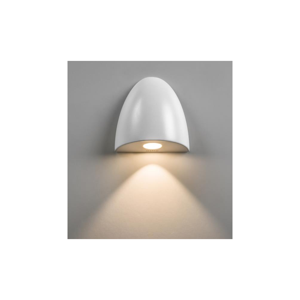 7370 Orpheus LED Simple Bathroom Wall Light In White Finish