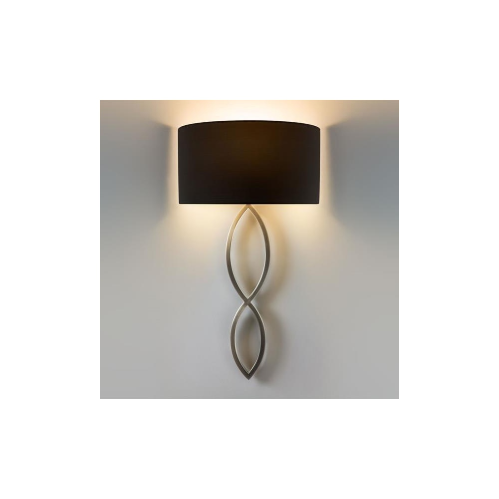 7372 Caserta Modern Wall Light in Matt Nickel with Black Shade  sc 1 st  The Home Lighting Centre & Astro Lighting 7372 Caserta Modern Wall Light in Matt Nickel with ...