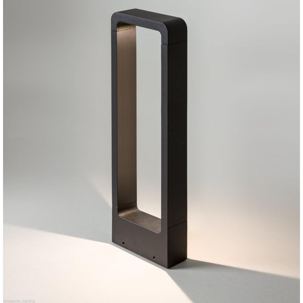 Welhome Bollard Light Garden Pedestal Led Solar Lamps: Astro Lighting 7406 Napier Bollard 650 LED Modern Black