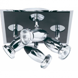 7494 Comet 4 Light Black and Chrome Spotlight