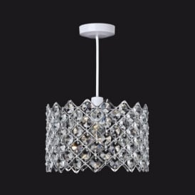 8112 Easy Fit Crystal Ceiling Pendant Light