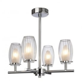 8126 Pacific 4 Light Bathroom Chrome Semi-Flush Ceiling Light