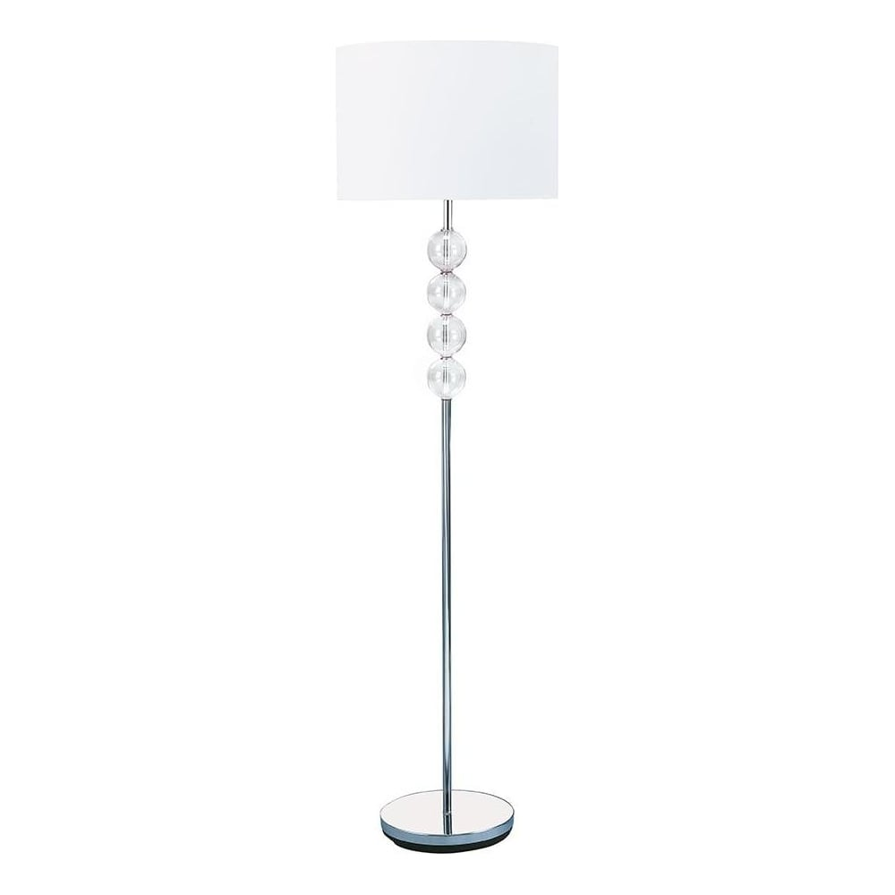 premium selection df544 855f7 8194CC Glass Ball Floor Lamp With Co-ordinating Shade