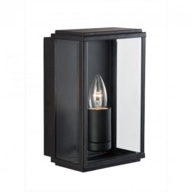 8204BK Outdoor Lighting Black Finish Glass Lantern
