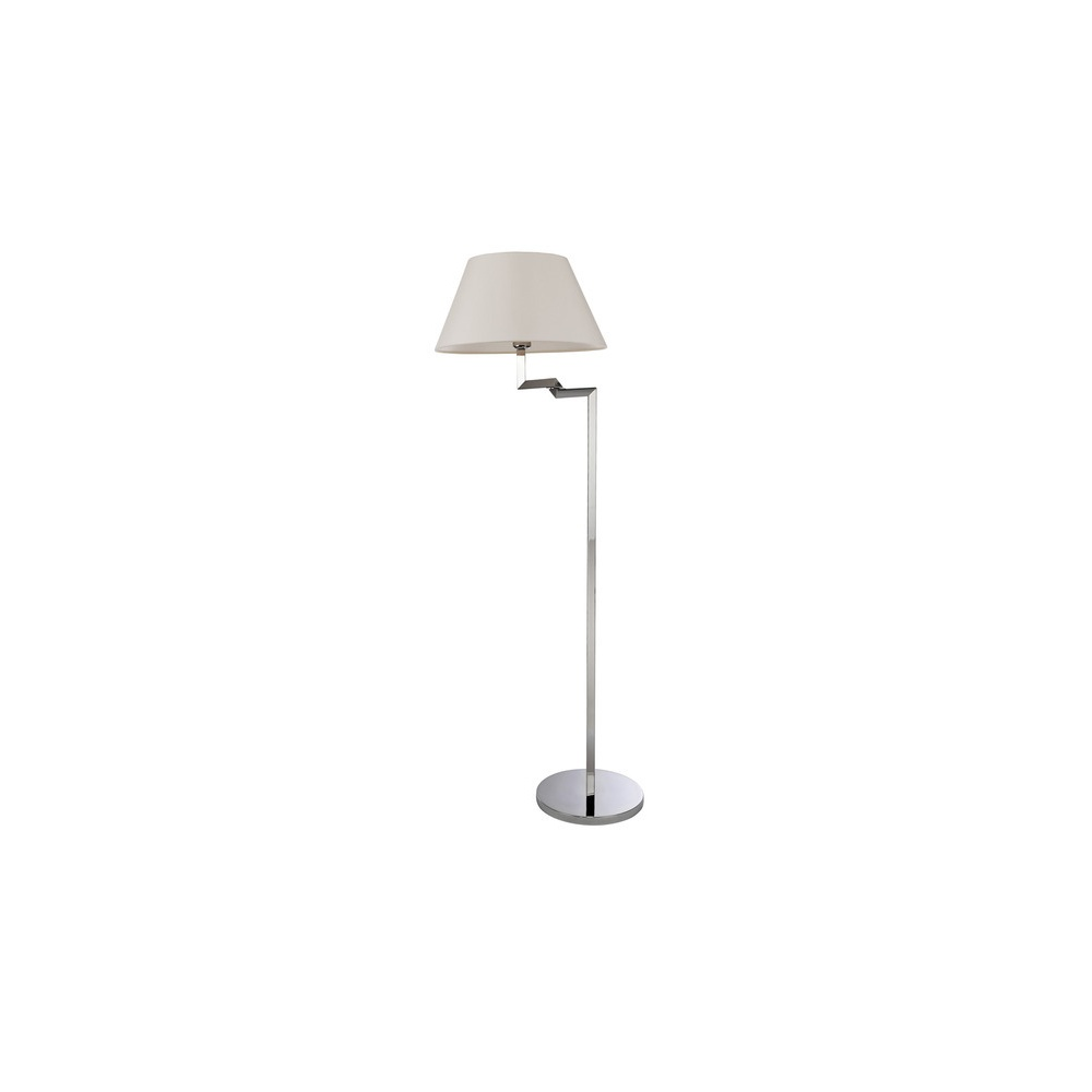 8224 Swing 1 Light Stainless Steel Swing Arm Floor Lamp With Shade