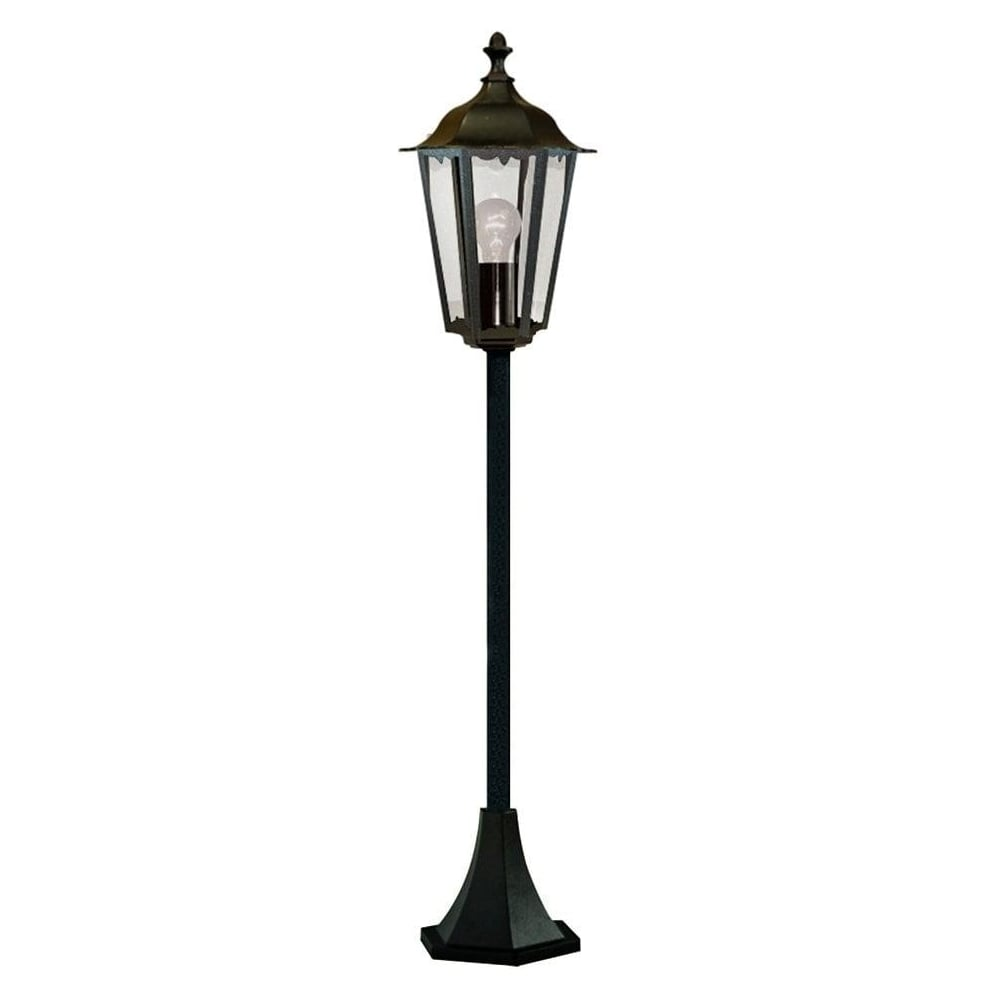 Alex Pedestal Light: Searchlight 82504BK Alex Outdoor Post Lamp