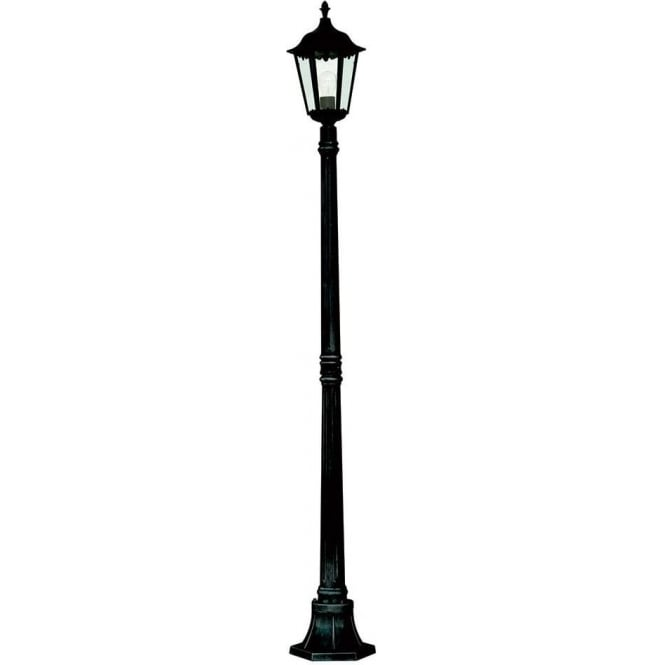 Alex Pedestal Light: Searchlight 82508BK Alex 1 Light Outdoor Lamp