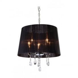 8309 Organza 5 Light Chrome and Crystal Ceiling Pendant
