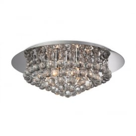 8314 Liberty 6 Light Chrome with Crystal Ceiling Light
