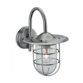 8352 Cage Outdoor Stainless Steel Wall Lantern with Glass