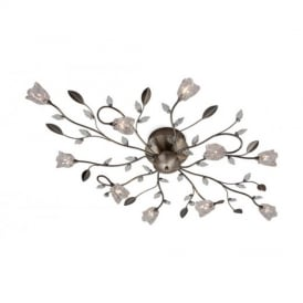 8362 Cindy 10 Light Flush Ceiling Light with Glass Shades