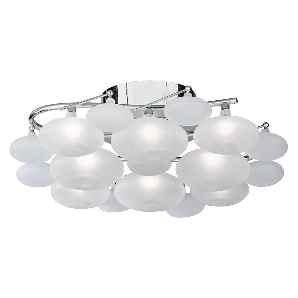 Searchlight 8408 8cc dulcie 8 light chrome flush ceiling fitting