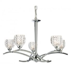 8617 Maple 5 Modern Light Polished Chrome Ceiling Light