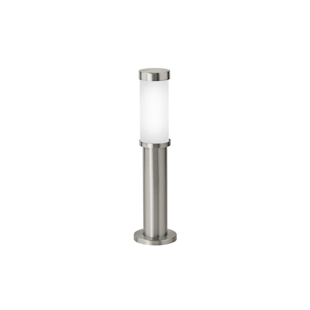 Chateau Pedestal Lantern Nickel: 86248 Konya Modern Outdoor Steel Pedestal Lamp In Nickel