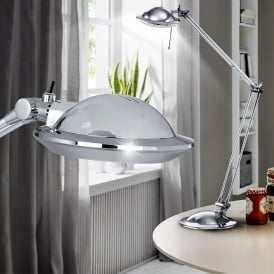 86555 Picaro 1 Light Halogen Chrome Desk Lamp