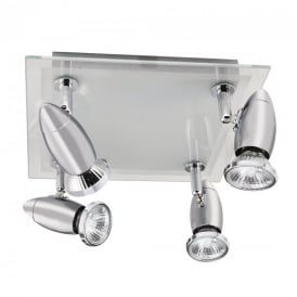 8764CC Halogen Chrome 4 Light Spotlight