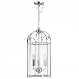 8773CC 3 Light Domed Lantern in Polished Chrome