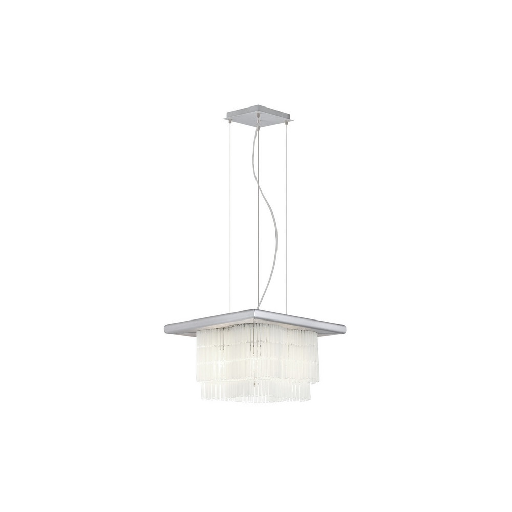 88237 Naxos 4 Light Square Pendant With Glass Rods