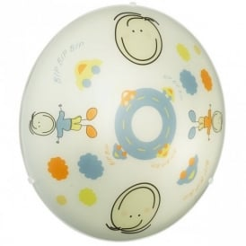 88972 Junior2 2 Light Child's Flush Ceiling Lamp