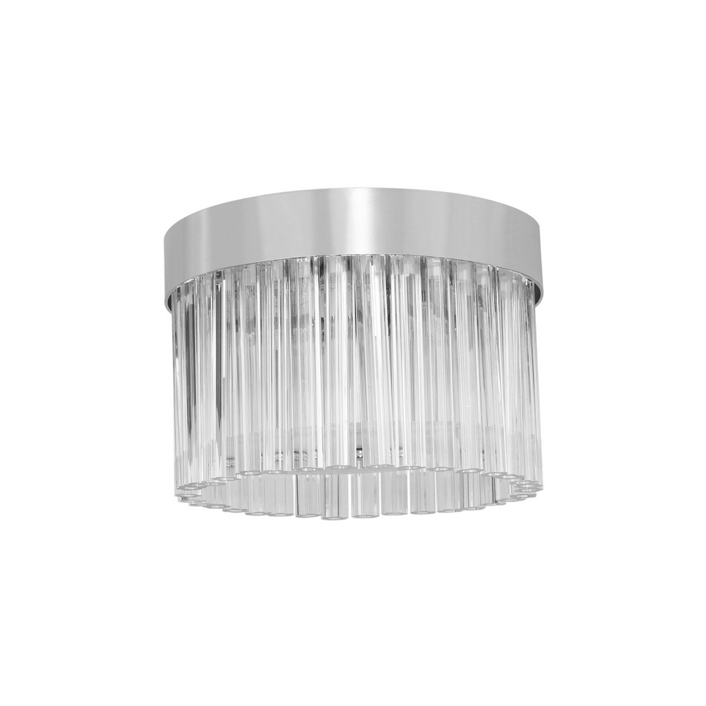 evia 4 light flush ceiling lamp with glass rods