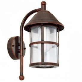 90184 San Telmo Traditional Outdoor Lantern In Antique Brown