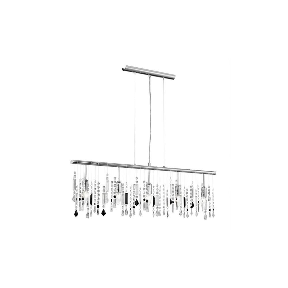 eglo lighting 90437 vitoria black 5 light crystal ceiling