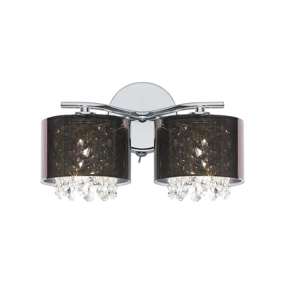 Ottoni Wall Lights Chrome : Endon 91222 2 Light Wall Light In Chrome With Smoke Shades - Lighting from The Home Lighting ...