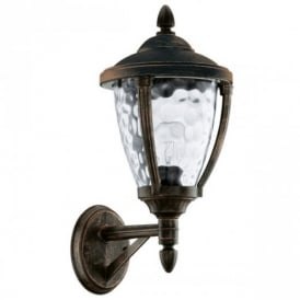 92232 Abira Traditional Steel Wall Lantern In Black Gold