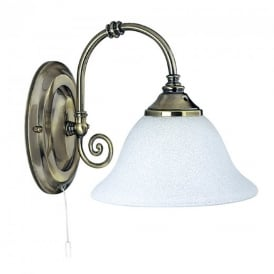 9351-1 Traditional Antique Brass 1 Light Wall Light